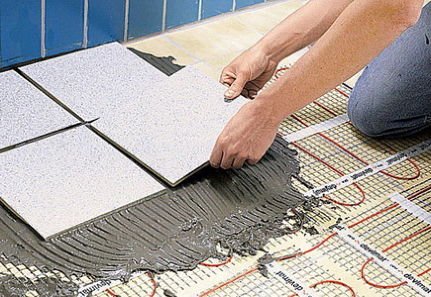 Adhesive for porcelain tiles on floor heating: selection, application, expert advice